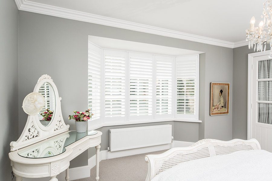 Bay window shutters designed fitted by eden house ascot for 12 window shutters