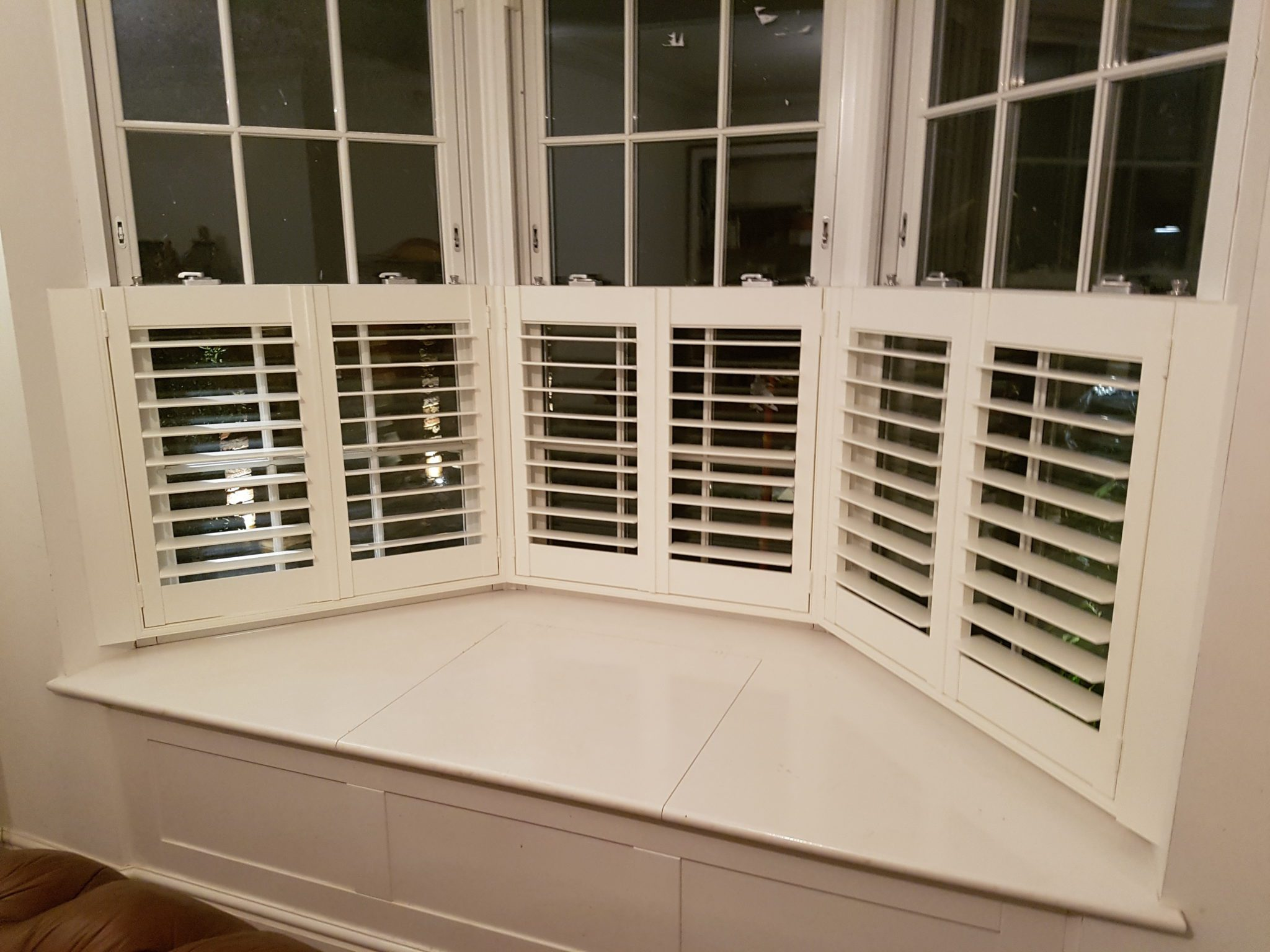 Cafe Style Shutters For Bay Window Of Cottage In Sunninghill