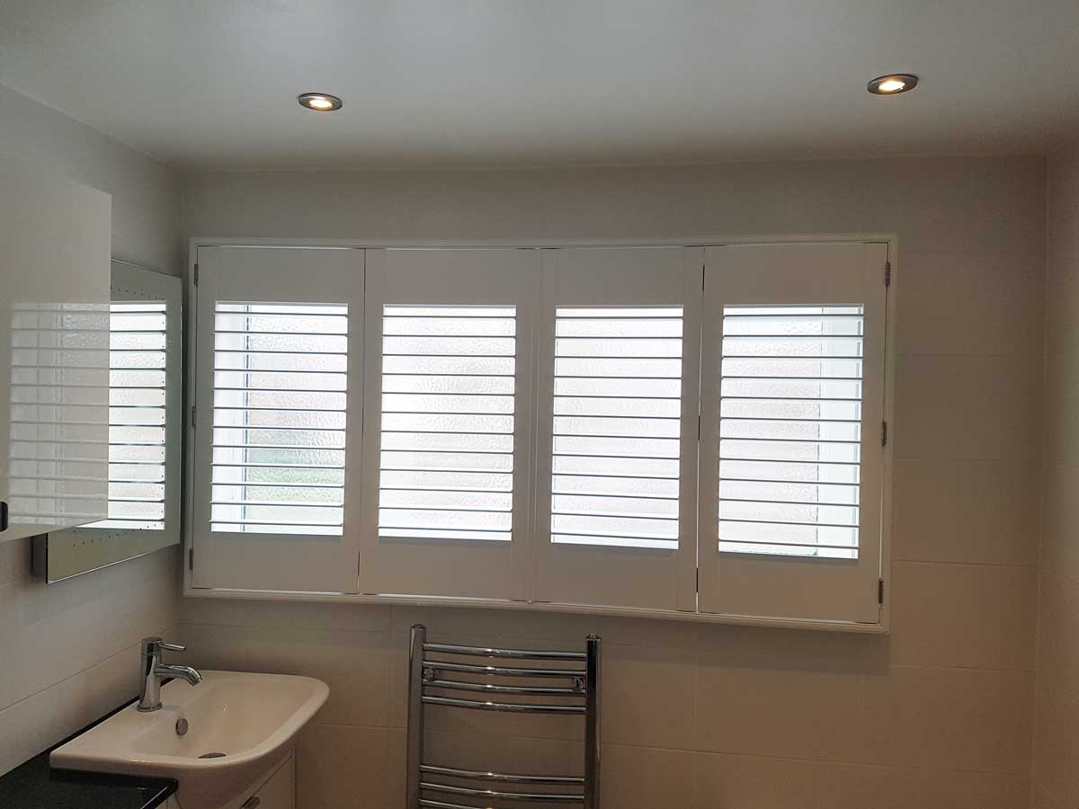 Plantation Shutters For Tilt And Turn Windows In Bathroom